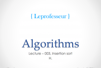 Algorithms } 003 } Insertion Sort }