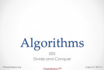 Algorithms } 005 } Divide-and-conquer }