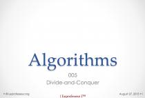 Algorithms } 005 } Divide-and-conquer }