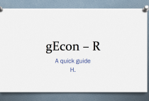 Tutorials } gEcon – R: A quick guide }