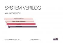 Tutorials } System Verilog } A quick overview for verification }