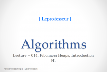Algorithms } 014 } Fibonacci Heaps } Introduction }