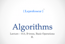 Algorithms } 013 } Data Structures } B-Trees } Basic Operations }