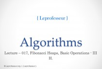 Algorithms } 017 } Data Structures } Fibonacci Heaps } Basic Operations } 3 }