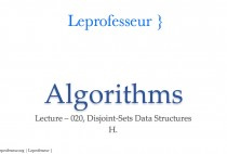 Algorithms } 020 } Data Structures } Disjoint-Sets }