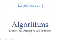 Algorithms } 020 } Data Structures } Disjoint-Sets }