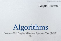 Algorithms } 025 } Graphs } Minimum Spanning Tree } Introduction }