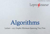 Algorithms } 027 } Graphs } Minimum Spanning Tree } Prim }