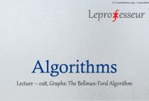 Algorithms } 028 } Graphs } The Bellman-Ford Algorithm }