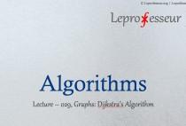 Algorithms } 029 } Graphs } Dijkstra's algorithm }