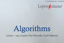 Algorithms } 030 } Graphs } Flow Networks } Ford-Fulkerson }