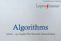 Algorithms } 031 } Graphs } Flow Networks } Edmonds-Karp }