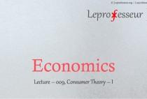 Economics } 009 } Consumer Theory } 1 }