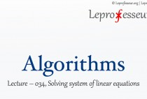Algorithms } 034 } Solving Linear Equations }