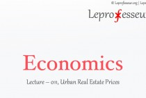Economics } 011 } Urban Real Estate Pricing }