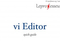 Tutorials } vi Editor: quick guide }