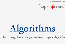Algorithms } 035 } Linear Programming } Simplex Algorithm }