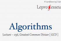 Algorithms } 036 } Greatest Common Divisor (GCD) }