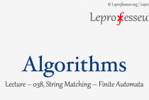 Algorithms } 038 } String Matching } Finite Automata }