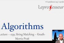 Algorithms } 039 } String Matching } Knuth-Morris-Pratt }