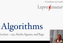 Algorithms } 04 } Bags, Queues, and Stacks }