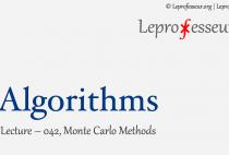 Algorithms } 042 } Monte-Carlo Methods }