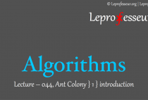 Algorithms } 044 }  Ant Colony Optimization } Introduction }